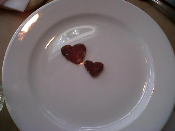 Love is everywhere...even on my plate!